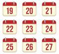 Vector calendar app icons to days this is file of eps format Stock Images