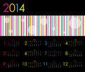 Vector calendar for with dotted design Royalty Free Stock Photography