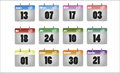 Vector calendar icon icons for twelve months on a white background Stock Images