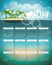 Vector calendar illustration on a color background Royalty Free Stock Photos