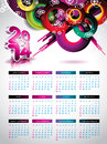 Vector calendar illustration on a holiday background Royalty Free Stock Photo