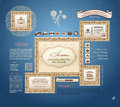 Vector calligraphic vintage frames elements Stock Images