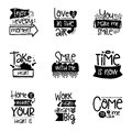 Vector calligraphy with decor elements