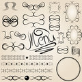 Vector calligraphy elements set of Stock Images