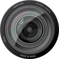 Vector camera lens. Stock Image