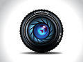 Vector camera lens illustration Royalty Free Stock Photos