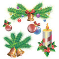 Vector candle christmas illustration holiday symbol