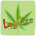 Vector cannabis leaf and legalize description, Royalty Free Stock Photo