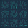 Vector car parts icons Royalty Free Stock Photo