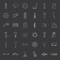 Vector car parts. Icons set. Royalty Free Stock Photo