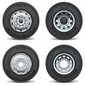 Vector Car Parts Set Tire Business tyre engineer Royalty Free Stock Photo