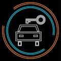 Vector car rentals label, logo, icon, emblem