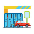 Vector car service and repair vehicle maintenance Stock Images