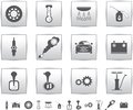 Vector car set icons. auto service square Stock Image