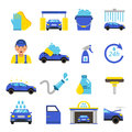 Vector of car washing equipment. Cleaning service for automobiles