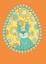 Vector card with easter bunnies Royalty Free Stock Images