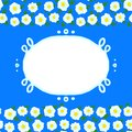 Vector card with floral seamless frame Stock Images