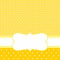Vector card or invitation with yellow background, white polka dots Royalty Free Stock Photo