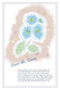 Happy Spring is Here Doodle Flower Card, Vector Illustration