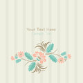 Vector card in ukrainian folk style stock on light background with floral ornament art soft and lovely colors template frame Stock Photography
