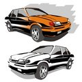 Vector cars Stock Photo