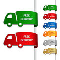 Vector cars of free delivery Stock Photography