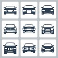 Vector cars icons set Royalty Free Stock Images