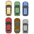 Vector cars set top view Royalty Free Stock Photo