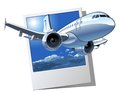 Vector cartoon airliner available eps format separated by groups and layers for easy edit Stock Image