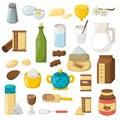 Vector cartoon baking ingredients