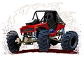 Vector cartoon buggy available eps format separated by groups and layers for easy edit Royalty Free Stock Photos