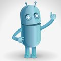 Vector cartoon character - funny robot Royalty Free Stock Image