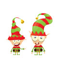 Vector cartoon cute happy Christmas elf