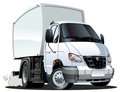Vector cartoon delivery / cargo truck Stock Image