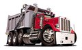 Vector Cartoon Dump Truck Royalty Free Stock Photo