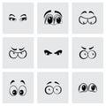 Vector Cartoon Eyes Icons Set