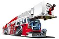 Vector Cartoon Fire Truck Stock Image
