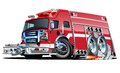 Vector Cartoon Fire Truck Stock Photography