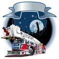Vector cartoon fire truck available eps format separated by groups and layers for easy edit Royalty Free Stock Photos