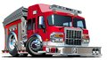 Vector cartoon fire truck hotrod available eps format separated by groups and layers for easy edit Stock Image