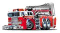 Vector cartoon fire truck hotrod available eps vector format separated groups layers easy edit Royalty Free Stock Photo