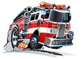 Vector Cartoon firetruck Royalty Free Stock Photography