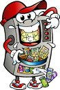 Vector Cartoon illustration of a Vending Machine selling Snacks Royalty Free Stock Photo