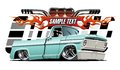 Vector Cartoon Lowrider Royalty Free Stock Photo