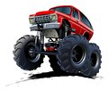 Vector cartoon monster truck available eps vector format separated groups layers easy edit Stock Photo