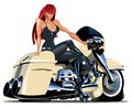Vector cartoon motorbike available eps format separated by groups and layers for easy edit Stock Photo