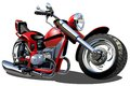 Vector Cartoon Motorcycle Stock Photo