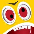Vector Cartoon Orange Monster ...