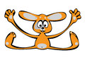 Vector cartoon orange rabbit isolated on white Stock Image