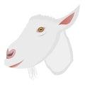 Vector cartoon portrait of small goat Royalty Free Stock Photo
